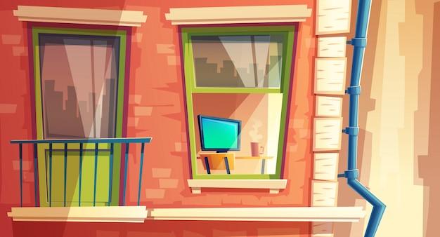 Vetorial, ilustração, de, lar