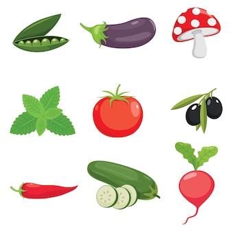 Vetorial, ilustração, de, legumes