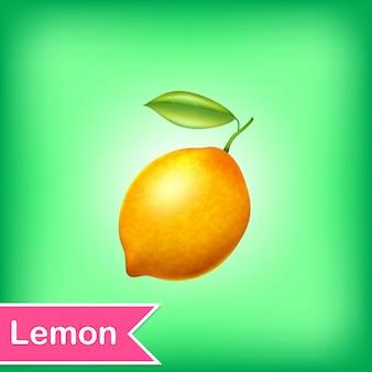 Vetorial, ilustração, de, limão