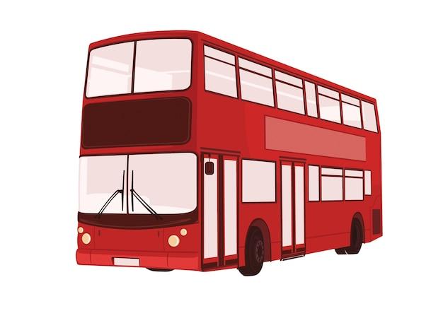 Vetorial, ilustração, de, londres, autocarro