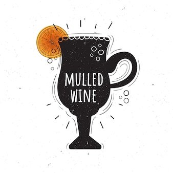 Vetorial, ilustração, de, mulled, vinho