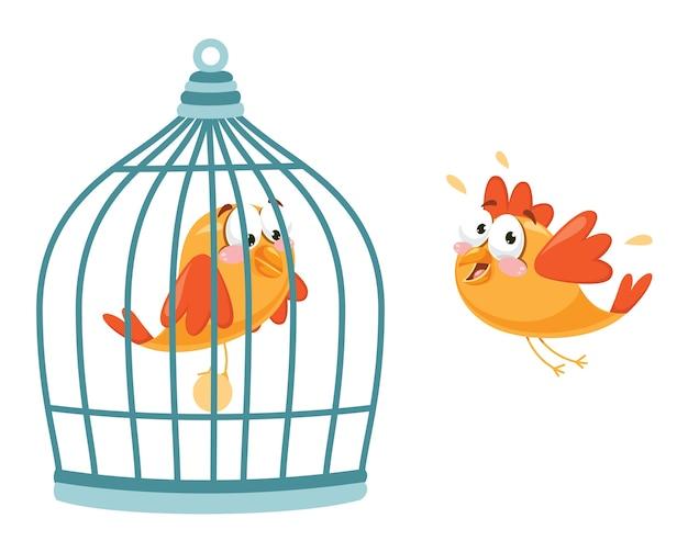 Vetorial, ilustração, de, pássaro