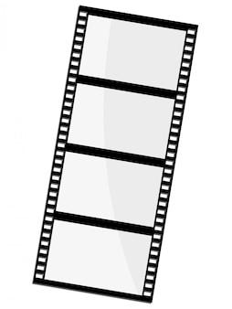 Vetorial, ilustração, de, quadro filme