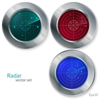 Vetorial, ilustração, de, radar, jogo
