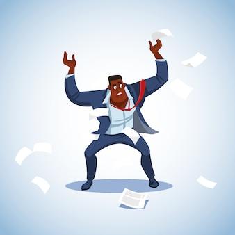 Vetorial, ilustração, de, um, chefe, sob, tensão
