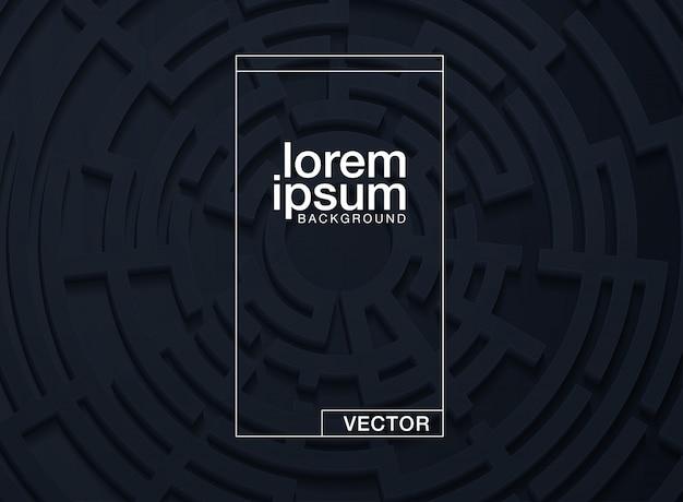 Vetorial, ilustração, de, um, labirinto