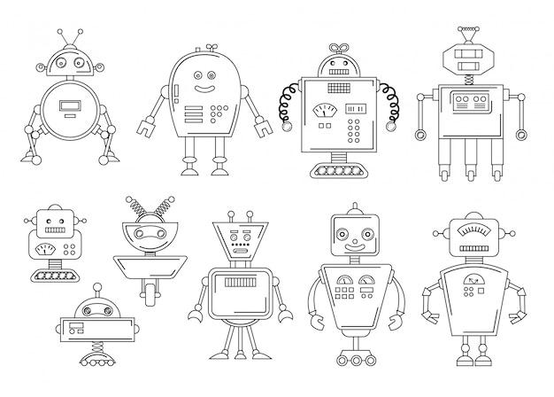 Vetorial, ilustração, de, um, robô