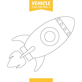 Vetorial, ilustração, de, veículo, coloração, página