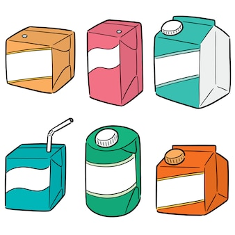 Vetorial, jogo, de, caixa bebida