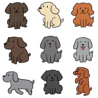 Vetorial, jogo, de, cão