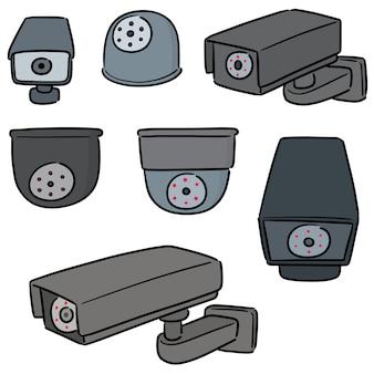 Vetorial, jogo, de, segurança, câmera