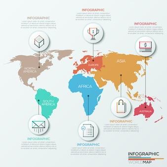 Vetorial, mapa mundial, ilustração