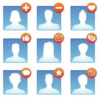 Vetorial, social, mídia, ícones