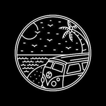 Viagem à praia de combi