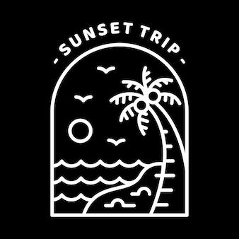 Viagem ao pôr do sol