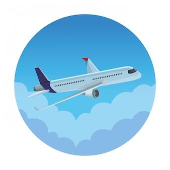 Viagem, avião, ícone