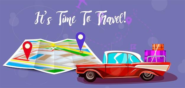 Viagem com mapa.