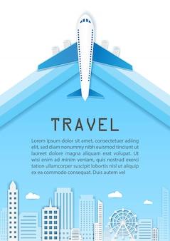 Viagem de avião ao redor do mundo