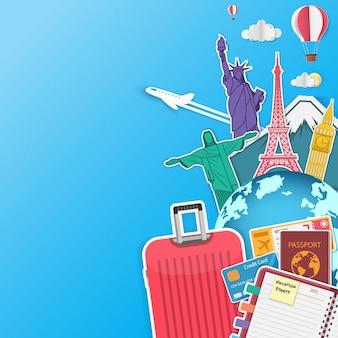 Viagem de avião e bagagem