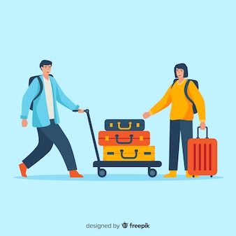 Viagem de casal plana