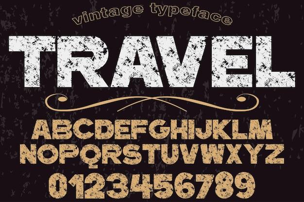 Viagem de design fonte retrô tipografia