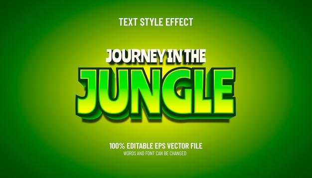 Viagem de efeito de texto editável no estilo de jogo na selva