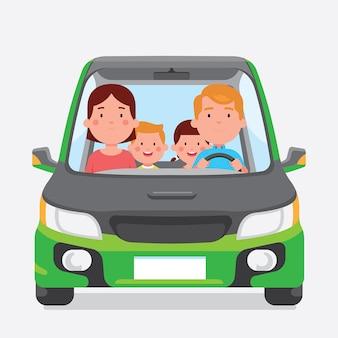 Viagem de família feliz