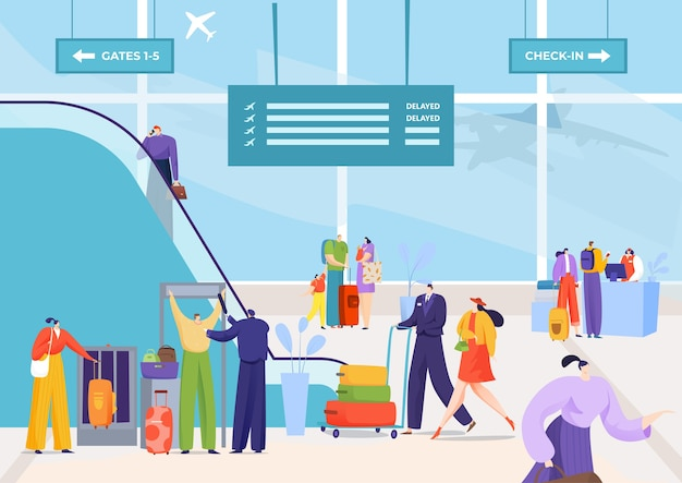Viagem de partida do aeroporto