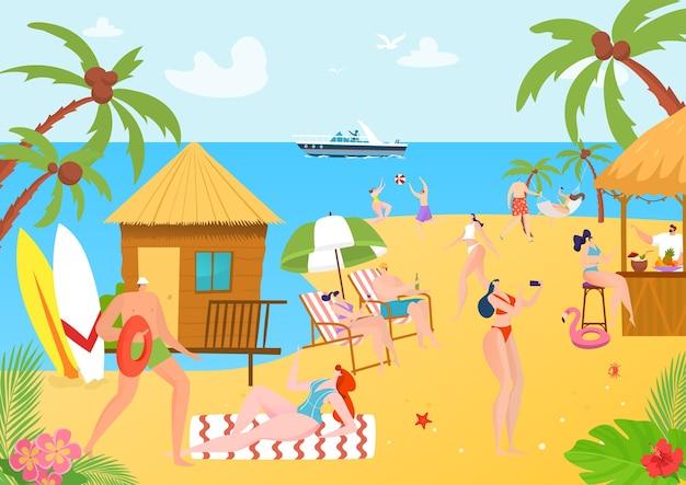 Viagem de praia para pessoas