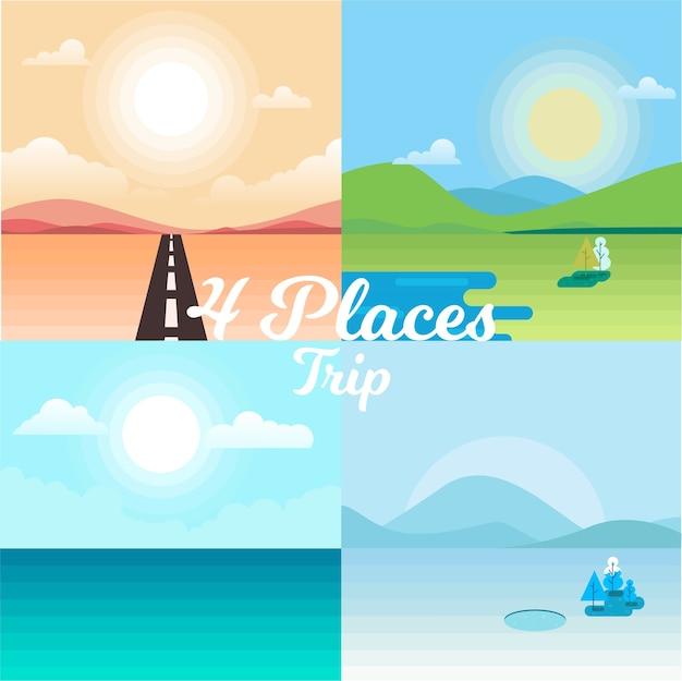 Viagem de quatro lugares