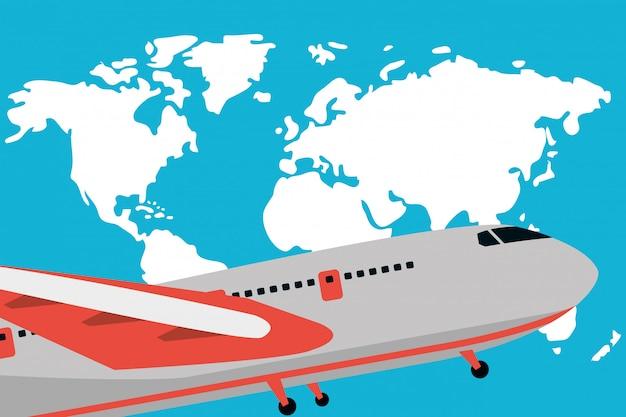 Viagem e transporte dos desenhos animados