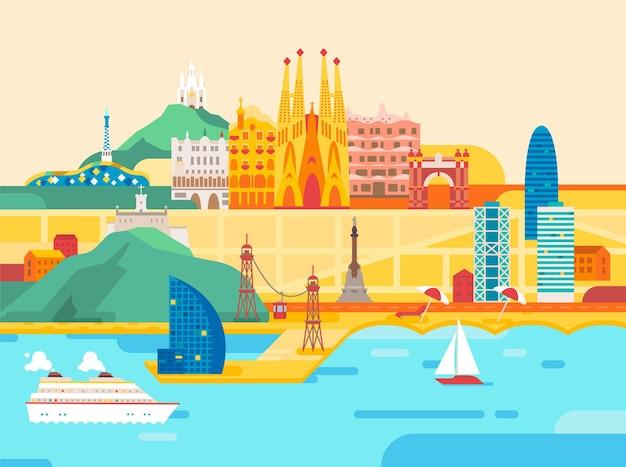 Viagem e turismo na cidade de barcelona