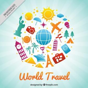 Viagem feliz ao redor do mundo