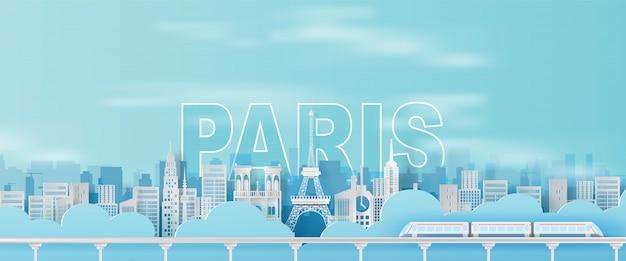 Viagem, feriado, torre eiffel, cidade paris, frança