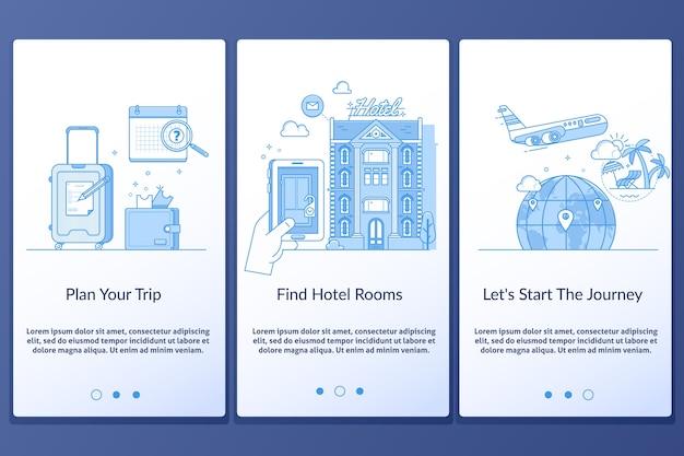 Viagem, infographics, teia, desenho