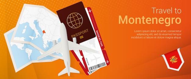 Viagem para banner popunder de montenegro