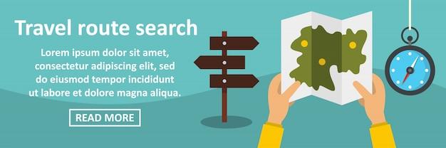 Viagem via conceito de banner horizontal de pesquisa