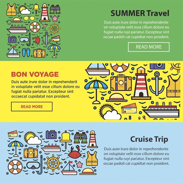 Viagens de verão e férias de cruzeiro no mar