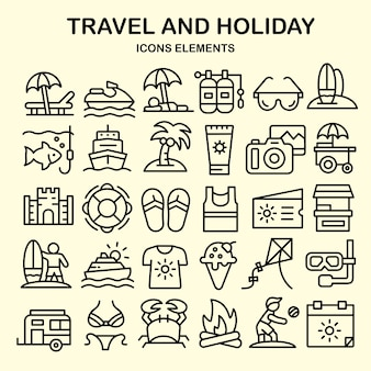 Viagens e férias iconset