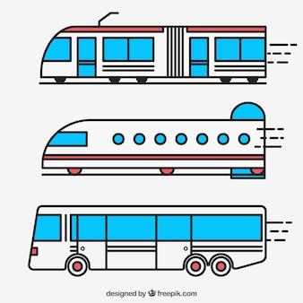 Viagens transportes coleção