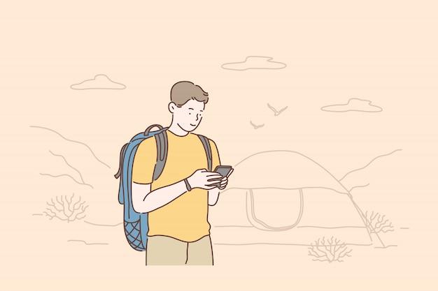 Viagens, turismo ou fim de semana.