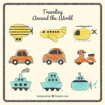 Viajando ao redor do mundo pacote