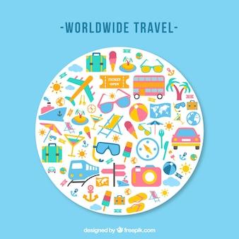 Viajando em todo o mundo