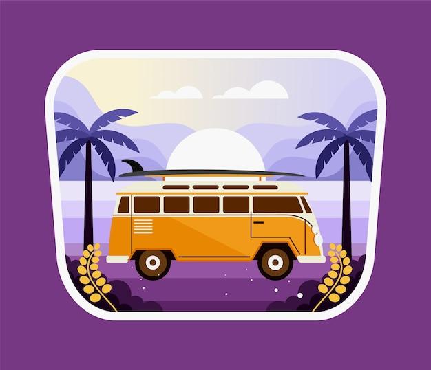 Viajando na praia de carro