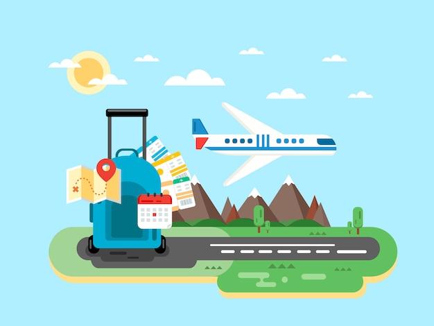 Viajando no avião