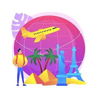 Viajando pelo mundo ilustração