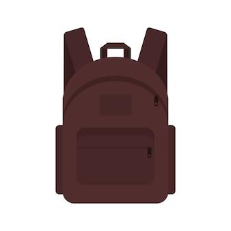 Viajante de mochila marchando maleta de estudante.