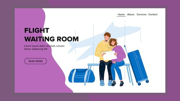 Viajantes em visita à sala de espera de voos