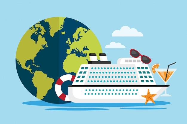 Viajar ao redor do mundo pelo navio de cruzeiro