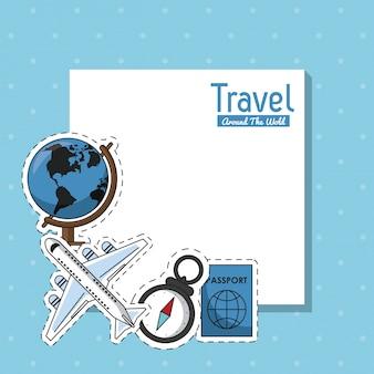 Viajar ao redor do quadro mundial